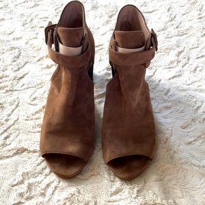 STUART WEITZMAN 10 suede chunky heels